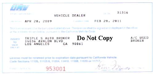 Delaware Car Dealer License